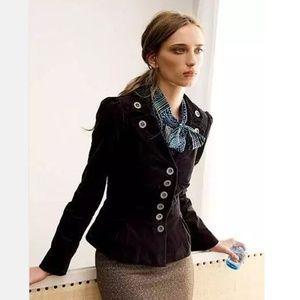 Anthropologie Floreat Edith Blazer Velvet Jacket